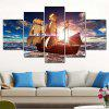 Sea Boat Printed Painting Canvas Print 5PCS - COLORMIX