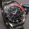 6.11 904 Stainless Steel Band Sports Men Watch - BLACK