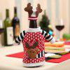 Christmas Decorative Sweater Shape Wine Bottle Cover with Hat - COLORMIX