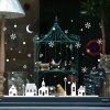 Christmas Window Mural Decal Decorative Wall Sticker - WHITE
