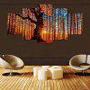 YSDAFEN Sunshine Forest Printed Painting Canvas Print 5PCS - COLORMIX