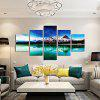 God Painting Mountain Lake Pattern Canvas Print 5PCS - COLORMIX