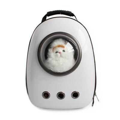 Buy WHITE Bubble Traveler Backpack Pet Carriers for Dogs Cats for $58.13 in GearBest store