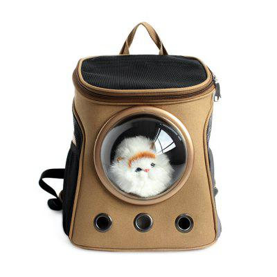 Buy KHAKI B Traveler Bubble Backpack Pet Carriers for Cats Dogs for $54.85 in GearBest store