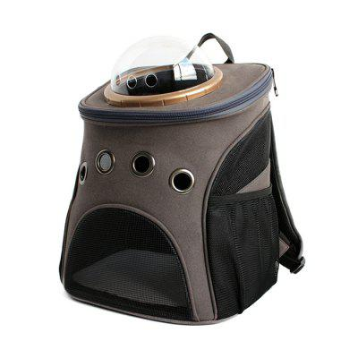 Buy DARK GRAY A Traveler Bubble Backpack Pet Carriers for Cats Dogs for $54.85 in GearBest store