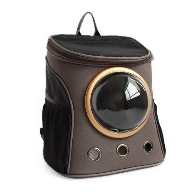 Buy DARK GRAY B Traveler Bubble Backpack Pet Carriers for Cats Dogs for $54.85 in GearBest store