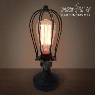 WESTMEN T1001 Table Lamp Light Glabe Cage ShapeTable Lamps<br>WESTMEN T1001 Table Lamp Light Glabe Cage Shape<br><br>Bulb Base: E26,E27<br>Bulb Included: No<br>Decoration Material: Metal<br>Features: Decorative<br>Fixture Material: Metal<br>Overall Height ( CM ): 27<br>Overall Length ( CM ): 27<br>Overall Width ( CM ): 11<br>Package Contents: 1 x Light, 1 x Assembly Part<br>Package size (L x W x H): 30.00 x 14.00 x 14.00 cm / 11.81 x 5.51 x 5.51 inches<br>Package weight: 0.6000 kg<br>Power Supply: Power Plug<br>Product weight: 0.5000 kg<br>Production Models: Self-produce<br>Shade Material: Metal<br>Style: Simple, Antique, Metallic, Modern Style, Rustic<br>Switch Type: On Off Switch<br>Type: Table Lamp, Desk Lamp<br>Voltage ( V ): 220V - 240V<br>Wattage: 60W