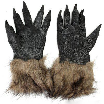 Cosplay Halloween Horrible Wolf Claws Shape Gloves