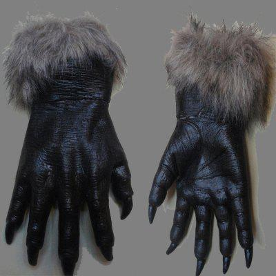 Halloween Horrible Vivid Costume Wolf Gloves