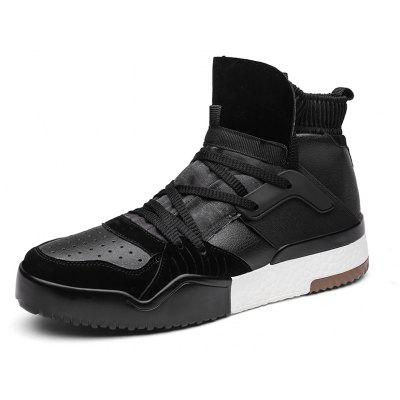Male Sporty Split-joint Ankle-top Casual Leather ShoesCasual Shoes<br>Male Sporty Split-joint Ankle-top Casual Leather Shoes<br><br>Closure Type: Lace-Up, Slip-On<br>Contents: 1 x Pair of Shoes, 1 x Box, 1 x Dustproof Paper<br>Decoration: Split Joint<br>Function: Puncture Resistant, Slip Resistant<br>Materials: PU, Cloth<br>Occasion: Tea Party, Sports, Shopping, Riding, Casual, Daily, Dress, Holiday, Outdoor Clothing, Party<br>Outsole Material: PU<br>Package Size ( L x W x H ): 33.00 x 24.00 x 13.00 cm / 12.99 x 9.45 x 5.12 inches<br>Package Weights: 0.90kg<br>Seasons: Autumn,Spring<br>Style: Modern, Leisure, Fashion, Comfortable, Casual<br>Toe Shape: Round Toe<br>Type: Casual Leather Shoes<br>Upper Material: Cloth,PU