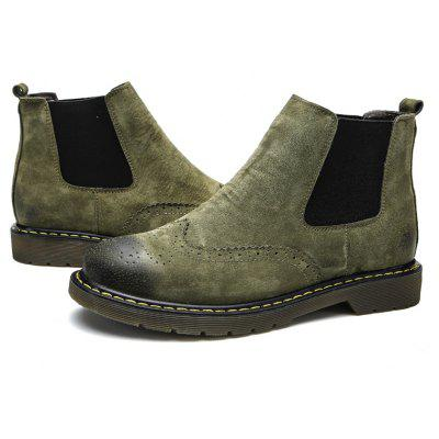 Buy Male Trendy Brush-off Medium-top Chelsea Style Boots, BLACKISH GREEN, 43, Bags & Shoes, Men's Shoes, Men's Boots for $32.78 in GearBest store