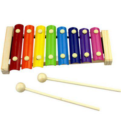 Wooden Music Instrument Eight Tone Keys Xylophone Toys