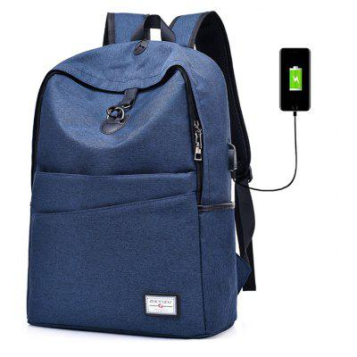 Buy Men Leisure Anti-theft Backpack with USB Port, BLUE, Bags & Shoes, Men's Bags, Backpacks for $28.38 in GearBest store
