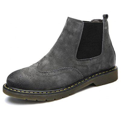 Male Trendy Brush-off Medium-top Chelsea Style BootsMens Boots<br>Male Trendy Brush-off Medium-top Chelsea Style Boots<br><br>Closure Type: Slip-On<br>Contents: 1 x Pair of Shoes, 1 x Box, 1 x Dustproof Paper<br>Decoration: Split Joint<br>Function: Slip Resistant<br>Materials: Rubber, Leather<br>Occasion: Tea Party, Shopping, Party, Office, Holiday, Casual, Outdoor Clothing, Daily, Dress, Formal<br>Outsole Material: Rubber<br>Package Size ( L x W x H ): 33.00 x 24.00 x 13.00 cm / 12.99 x 9.45 x 5.12 inches<br>Package Weights: 1.00kg<br>Pattern Type: Solid<br>Seasons: Autumn,Spring<br>Style: Modern, Leisure, Formal, Fashion, Comfortable, Casual, Business<br>Toe Shape: Round Toe<br>Type: Boots<br>Upper Material: Leather