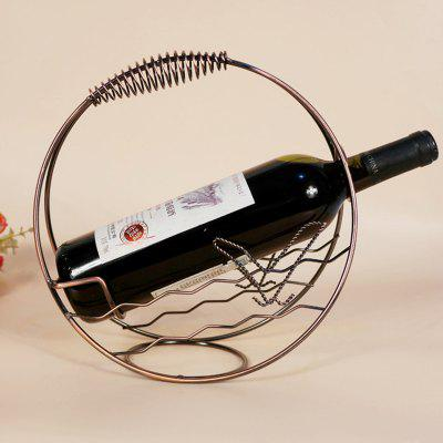 Creative Circular Fashion Iron Red Wine RackBarware<br>Creative Circular Fashion Iron Red Wine Rack<br><br>Material: Iron<br>Package Contents: 1 x Wine Rack<br>Package size (L x W x H): 30.00 x 20.00 x 15.00 cm / 11.81 x 7.87 x 5.91 inches<br>Package weight: 1.8000 kg<br>Product size (L x W x H): 27.00 x 11.50 x 28.00 cm / 10.63 x 4.53 x 11.02 inches<br>Product weight: 1.5000 kg<br>Type: Barware, Other Kitchen Accessories