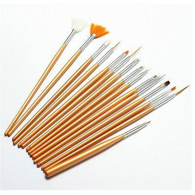 Professional Nail Painting Tool Pen Brush 15pcs