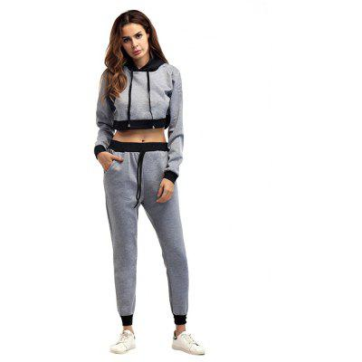 Western Style Hooded Joint Leisure Set for Women