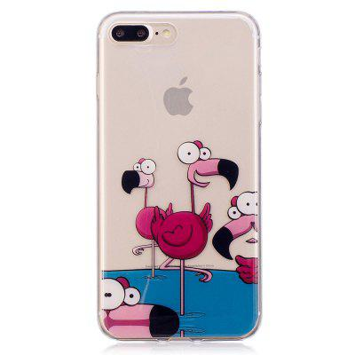 Cartoon Painted TPU Clear Soft Case for iPhone 7 Plus / iPhone 8 Plus
