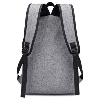 Men Leather-trimmed Water-resistant Backpack with USB PortBackpacks<br>Men Leather-trimmed Water-resistant Backpack with USB Port<br><br>Features: Wearable<br>Gender: Men<br>Material: Oxford Fabric<br>Package Size(L x W x H): 32.00 x 5.00 x 46.00 cm / 12.6 x 1.97 x 18.11 inches<br>Package weight: 0.6200 kg<br>Packing List: 1 x Backpack<br>Product weight: 0.6000 kg<br>Style: Casual, Fashion<br>Type: Backpacks