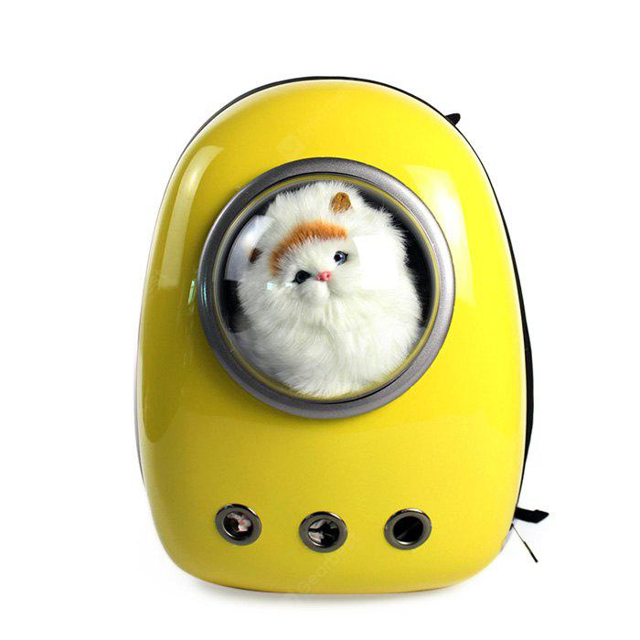 YELLOW Bubble Traveler Backpack Pet Carriers for Dogs Cats
