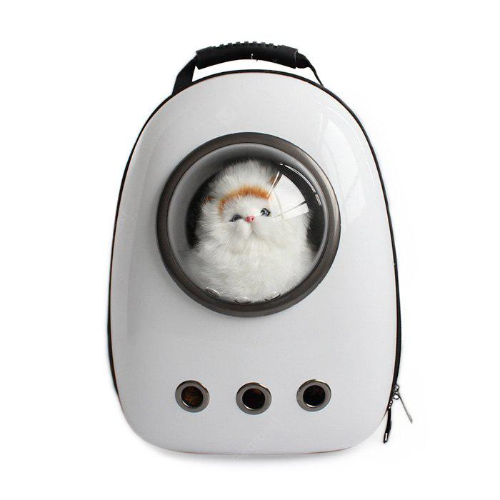 WHITE Bubble Traveler Backpack Pet Carriers for Dogs Cats