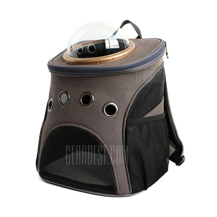 DARK GRAY A Traveler Bubble Backpack Pet Carriers for Cats Dogs