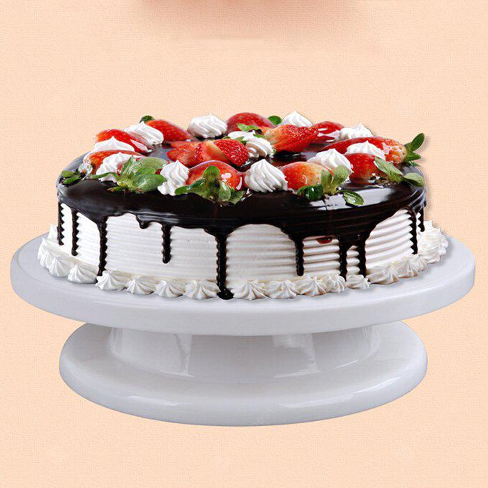 MCYH Plastic Cake Turntable Rotating Mounted Flower Stand, WHITE, Home & Garden, Kitchen & Dining, Bakeware, Cake Molds