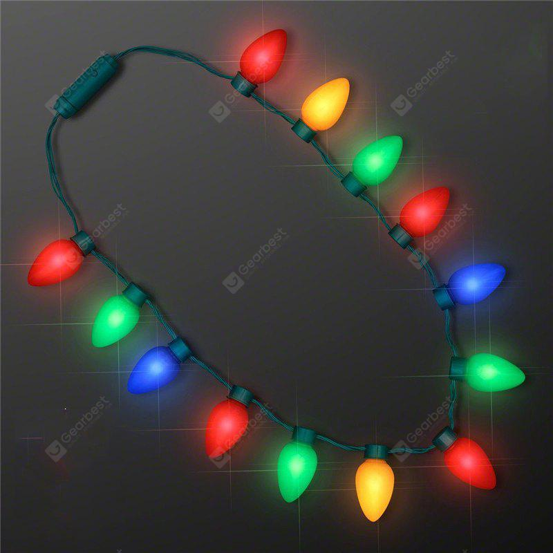 Novelty LED Necklace Decorative Flashing String Lights, COLORMIX, Home & Garden, Party Supplies, Christmas Supplies