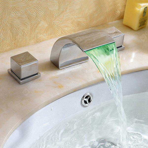 SILVER MLFALLS M1011CL LED Modern Water Powered Waterfall Faucet