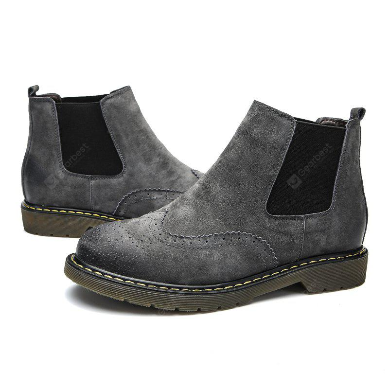 Male Trendy Brush-off Medium-top Chelsea Style Boots