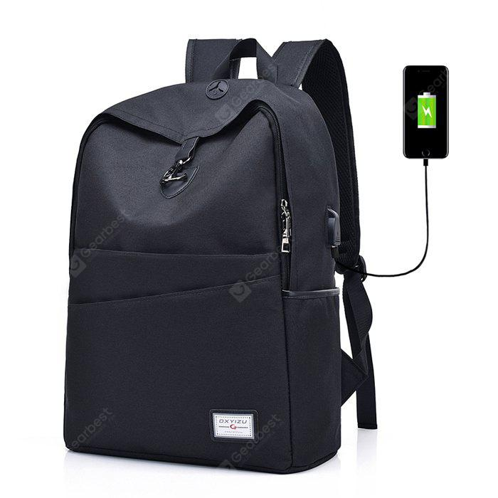 Men Leisure Anti-theft Backpack with USB Port, BLACK, Bags & Shoes, Men's Bags, Backpacks