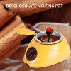 Electric Chocolate Melting Pot for Fondue Party - YELLOW