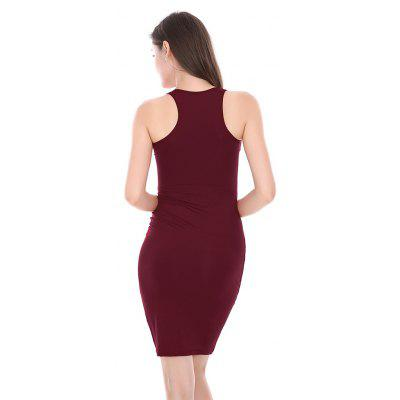 Stylish Bodycon Solid Color SundressWomens Dresses<br>Stylish Bodycon Solid Color Sundress<br><br>Dresses Length: Knee-Length<br>Elasticity: Elastic<br>Material: Cotton, Polyester<br>Neckline: Round Collar<br>Package Contents: 1 x Dress<br>Package size: 20.00 x 10.00 x 1.00 cm / 7.87 x 3.94 x 0.39 inches<br>Package weight: 0.1400 kg<br>Pattern Type: Solid Color<br>Product weight: 0.1300 kg<br>Season: Summer<br>Silhouette: Bodycon<br>Sleeve Length: Sleeveless<br>Style: Sexy<br>With Belt: No