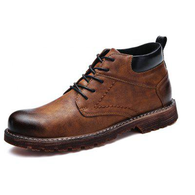 Male Retro Classic Soft Brush-off Ankle-top Dress ShoesMens Boots<br>Male Retro Classic Soft Brush-off Ankle-top Dress Shoes<br><br>Closure Type: Lace-Up<br>Contents: 1 x Pair of Shoes, 1 x Box, 1 x Dustproof Paper<br>Function: Slip Resistant<br>Materials: PU, TPR<br>Occasion: Tea Party, Shopping, Party, Office, Holiday, Formal, Dress, Casual, Daily<br>Outsole Material: TPR<br>Package Size ( L x W x H ): 33.00 x 22.00 x 11.00 cm / 12.99 x 8.66 x 4.33 inches<br>Package Weights: 0.98kg<br>Seasons: Autumn,Spring<br>Style: Modern, Leisure, Formal, Fashion, Comfortable, Casual, Business<br>Toe Shape: Round Toe<br>Type: Casual Leather Shoes<br>Upper Material: PU