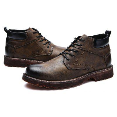 Buy Male Retro Classic Soft Brush-off Ankle-top Dress Shoes, DEEP BROWN, 39, Bags & Shoes, Men's Shoes, Men's Boots for $54.15 in GearBest store