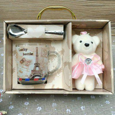 Tasse Mignon Glasses-Cup avec Ours Toy Set