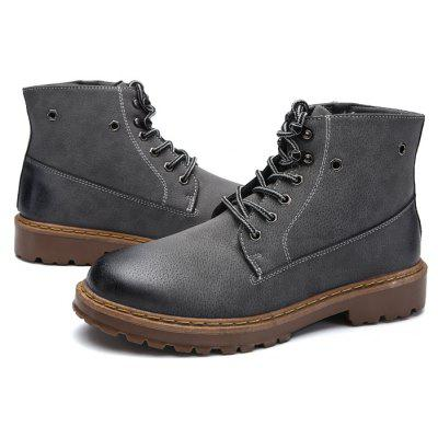 Male Retro All-matched High-top Casual Martin BootsMens Boots<br>Male Retro All-matched High-top Casual Martin Boots<br><br>Closure Type: Lace-Up, Zip<br>Contents: 1 x Pair of Shoes, 1 x Box ,1 x Dustproof Paper<br>Function: Slip Resistant<br>Materials: Microfiber, Rubber<br>Occasion: Party, Tea Party, Shopping, Riding, Rainy Day, Outdoor Clothing, Office, Holiday, Dress, Casual, Daily<br>Outsole Material: Rubber<br>Package Size ( L x W x H ): 33.00 x 24.00 x 13.00 cm / 12.99 x 9.45 x 5.12 inches<br>Package Weights: 0.90kg<br>Pattern Type: Solid<br>Seasons: Autumn,Spring<br>Style: Modern, Leisure, Fashion, Comfortable, Casual, Business<br>Toe Shape: Round Toe<br>Type: Boots<br>Upper Material: Microfiber