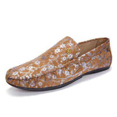 Male Stylish Floral Smile Soft Light Flat LoaferFlats &amp; Loafers<br>Male Stylish Floral Smile Soft Light Flat Loafer<br><br>Closure Type: Slip-On<br>Contents: 1 x Pair of Shoes, 1 x Box, 1 x Dustproof Paper<br>Function: Slip Resistant<br>Materials: Suede, Rubber<br>Occasion: Tea Party, Shopping, Office, Holiday, Party, Casual, Daily, Dress<br>Outsole Material: Rubber<br>Package Size ( L x W x H ): 33.00 x 24.00 x 13.00 cm / 12.99 x 9.45 x 5.12 inches<br>Package Weights: 0.80kg<br>Pattern Type: Floral<br>Seasons: Autumn,Spring<br>Style: Modern, Leisure, Fashion, Comfortable, Casual, Business<br>Toe Shape: Round Toe<br>Type: Flat Shoes<br>Upper Material: Suede