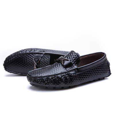 Male Business Soft Stereo Grain Driving Flat LoaferFlats &amp; Loafers<br>Male Business Soft Stereo Grain Driving Flat Loafer<br><br>Closure Type: Slip-On<br>Contents: 1 x Pair of Shoes, 1 x Box, 1 x Dustproof Paper<br>Function: Slip Resistant<br>Lining Material: Pigskin<br>Materials: Pigskin, Rubber, Leather<br>Occasion: Tea Party, Shopping, Office, Holiday, Casual, Daily, Party, Dress, Formal<br>Outsole Material: Rubber<br>Package Size ( L x W x H ): 33.00 x 24.00 x 13.00 cm / 12.99 x 9.45 x 5.12 inches<br>Package Weights: 0.80kg<br>Seasons: Autumn,Spring<br>Style: Modern, Leisure, Formal, Fashion, Comfortable, Casual, Business<br>Toe Shape: Round Toe<br>Type: Flat Shoes<br>Upper Material: Leather