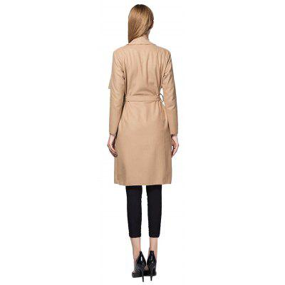 Irregular Straight Belted TrenchJackets &amp; Coats<br>Irregular Straight Belted Trench<br><br>Closure Type: Cover<br>Clothes Type: Trench<br>Embellishment: Others<br>Materials: Polyester, Wool<br>Occasion: Daily Use, Work, Holiday, Going Out<br>Package Content: 1 x Trench<br>Package Dimension: 30.00 x 40.00 x 1.00 cm / 11.81 x 15.75 x 0.39 inches<br>Package weight: 0.7600 kg<br>Pattern Type: Solid<br>Product weight: 0.7400 kg<br>Seasons: Autumn,Spring<br>Shirt Length: Long<br>Sleeve Length: Long Sleeves<br>Style: Casual<br>Thickness: Medium thickness