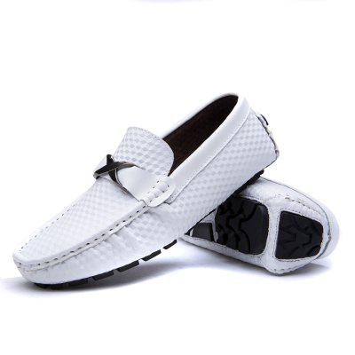 Male Business Soft Stereo Grain Driving Flat LoaferFlats &amp; Loafers<br>Male Business Soft Stereo Grain Driving Flat Loafer<br><br>Closure Type: Slip-On, Slip-On<br>Contents: 1 x Pair of Shoes, 1 x Box, 1 x Dustproof Paper, 1 x Pair of Shoes, 1 x Box, 1 x Dustproof Paper<br>Function: Slip Resistant, Slip Resistant<br>Lining Material: Pigskin, Pigskin<br>Materials: Leather, Rubber, Pigskin<br>Occasion: Office, Party, Shopping, Tea Party, Holiday, Casual, Formal, Dress, Daily<br>Outsole Material: Rubber, Rubber<br>Package Size ( L x W x H ): 33.00 x 24.00 x 13.00 cm / 12.99 x 9.45 x 5.12 inches, 33.00 x 24.00 x 13.00 cm / 12.99 x 9.45 x 5.12 inches<br>Package Weights: 0.80kg, 0.80kg<br>Seasons: Autumn,Spring, Autumn,Spring<br>Style: Fashion, Leisure, Formal, Modern, Comfortable, Casual, Business, Business, Casual, Modern, Leisure, Formal, Comfortable, Fashion<br>Toe Shape: Round Toe, Round Toe<br>Type: Flat Shoes<br>Upper Material: Leather, Leather