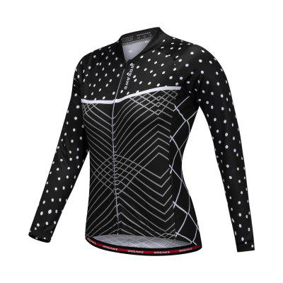 Buy BLACK L WOSAWE BC219 Female Cycling Jersey Slim Elastic Jacket Tops for $20.99 in GearBest store