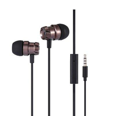 Buy EM100 Metal Stereo Bass Earphone with Remote and Mic, BLACK, Consumer Electronics, Portable Audio & Video, Headphones & Earphones, Earbud Headphones for $2.06 in GearBest store