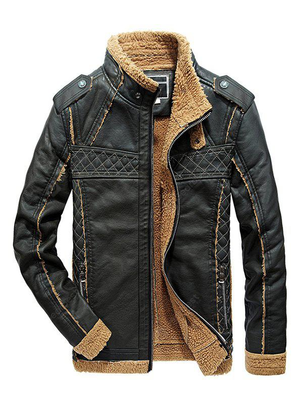 JOOBOX Warm Outdoor Winter Leather Jacket