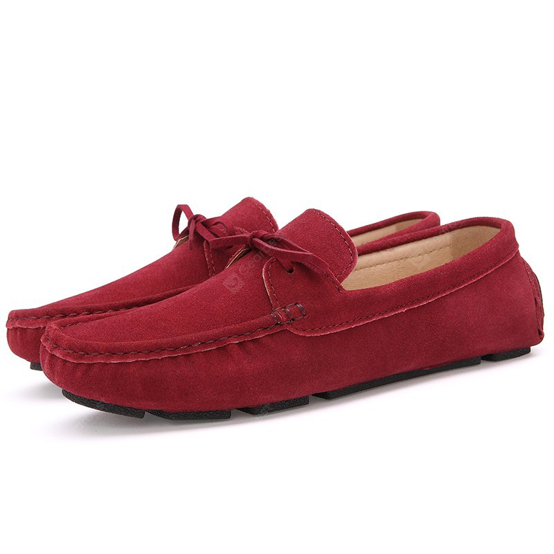 RED 41 Male Lightweight Soft Driving Casual Flat Loafer