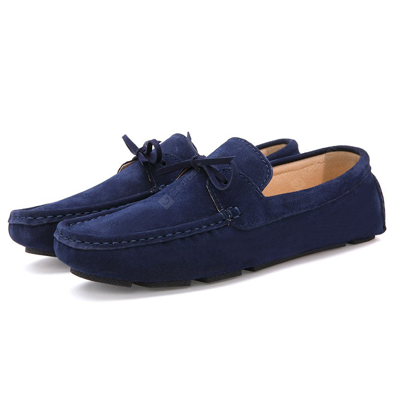 BLUE 41 Male Lightweight Soft Driving Casual Flat Loafer