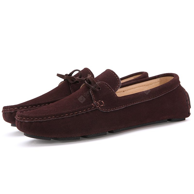 BROWN 41 Male Lightweight Soft Driving Casual Flat Loafer