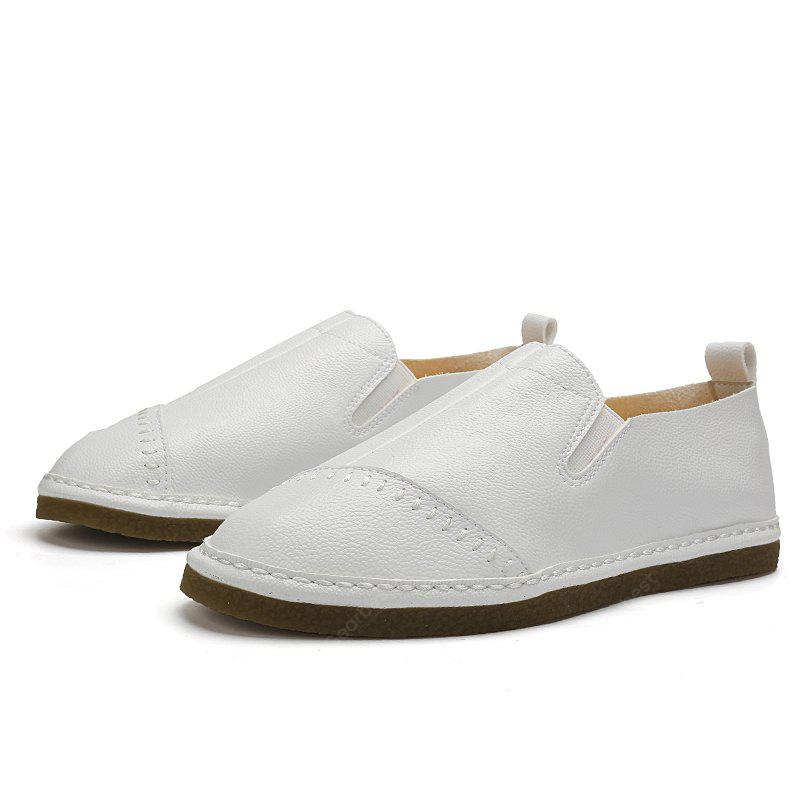 WHITE 40 Male Daily Casual Ultralight Driving Flat Loafer