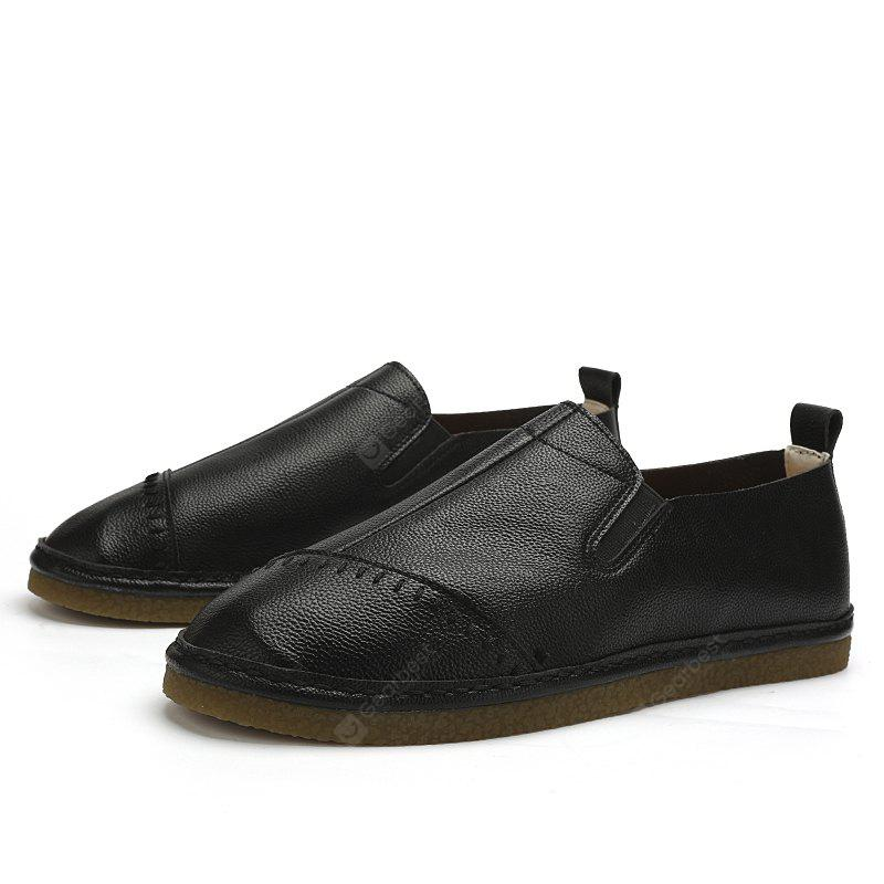 BLACK 40 Male Daily Casual Ultralight Driving Flat Loafer
