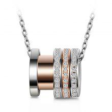 T400 10927 925 Sterling Silver Women Gyro Necklace